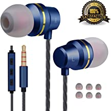 Earbuds Stereo Earphones in-Ear Headphones Earbuds with Microphone Mic and Volume Control Noise Isolating Wired Ear Buds Compatible Android Phone Tablet Laptop 3.5mm Devices Headphones