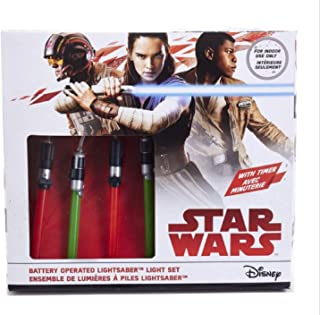 Kurt Adler 20ct Star Wars Lightsaber Battery Operated String Lights with Timer - 5.5 ft Clear Wire