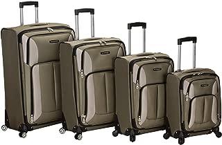 Rockland Luggage Impact Spinner 4 Piece Luggage Set, Olive, One Size