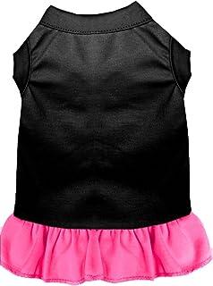 فستان سادة 59-00 XSBKBPK من ميراج بت برودكتس، مقاس XS، لون أسود مع وردي فاتح