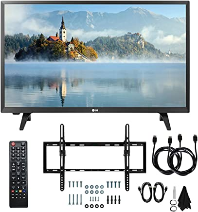 """$159 Get LG 28LJ430B-PU 28"""" Class HD 720p LED TV (2017 Model) with Slim Flat Wall Mount Kit and Two (2) 6 Foot HDMI Cables Ultimate Bundle"""