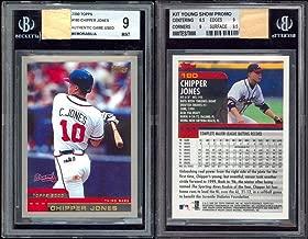 2000 Topps Hawaii/Beckett PROTOTYPE/TEST Chipper Jones Game-Used Bat Card BGS 9 - Beckett Authentication