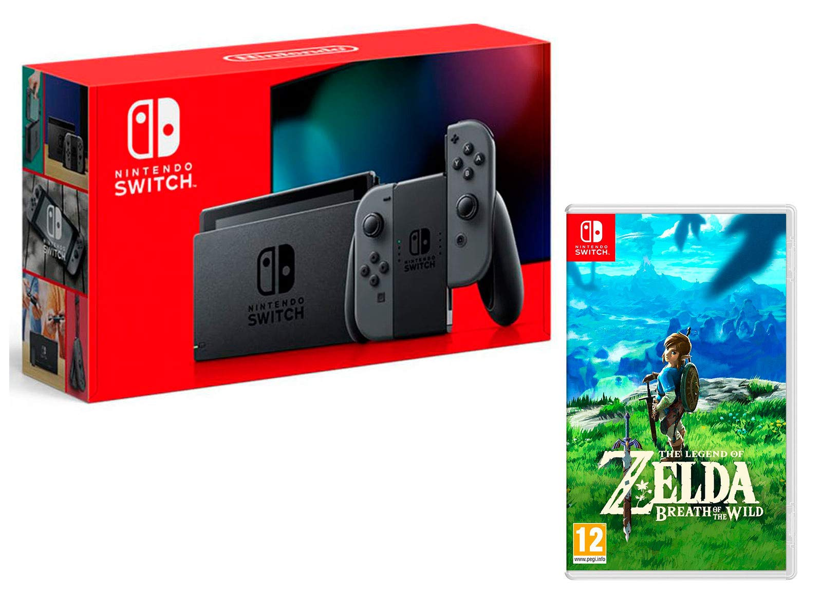Nintendo Switch 32Gb Gris + The Legend of Zelda: Breath of The Wild: Amazon.es: Videojuegos