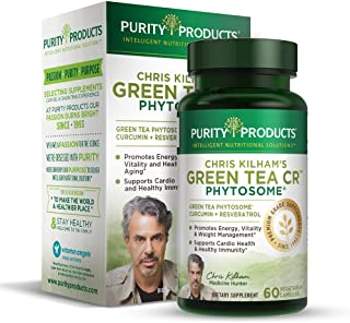 Green Tea CR Brand New w/Phytosome Technology for Boosted Bioavailibilty (High Absorption) by Purity Products - Healthy Fat Burning Support - As Featured On TV - 30 Day Supply, 60 Vegetarian Capsules