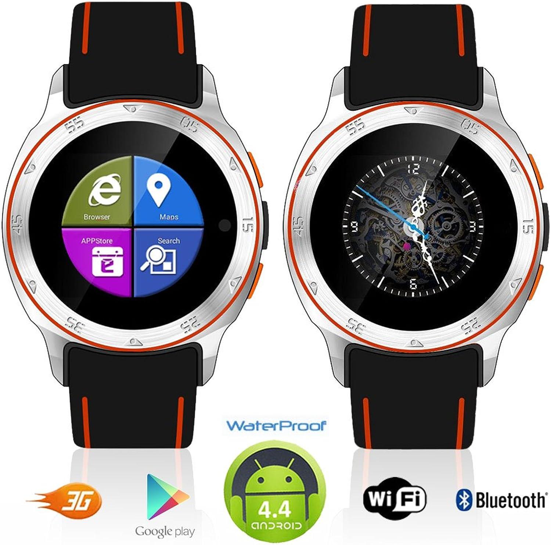 Indigi Sport 3G Smartwatch Handy wasserdicht Android 4.4WiFi entsperrt AT & T T-Mobile Smart Uhren Entsperrtes Smartphone