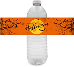 Happy Halloween Water Bottle Labels - 24 Stickers