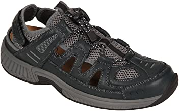 Orthofeet Proven Plantar Fasciitis Pain Relief. Extended Widths. Orthopedic Diabetic Men's Arch Support Sandals Alpine
