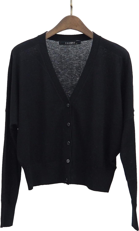 Lagomist Women's V Neck Long Sleeve Snaps Button Down Knit Cardigan Sweater