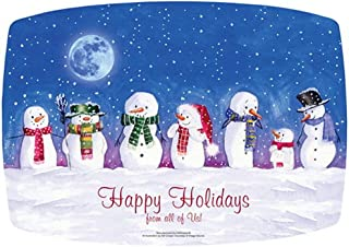 Snowmen Happy Holidays Paper Placemats 14x9.75 (25)