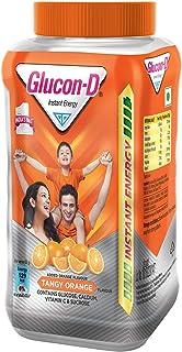 Glucon-D, Orange flavoured Glucose Based Beverage Mix - 400 g Jar