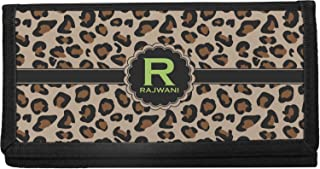 Triple Animal Print Canvas Checkbook Cover Personalized
