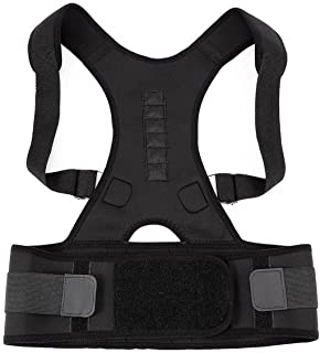 Neoprene Magnetic Posture Corrector Bad Back Support Lumbar Belt Shoulder Brace Size:M