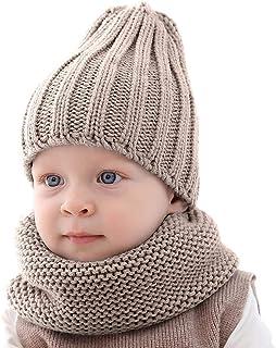 ROSEBEAR bébé Filles garçons Bonnet Cercle écharpe, Ensemble Bonnet et écharpe d'hiver pour Tout-Petits, Ensemble de Foula...