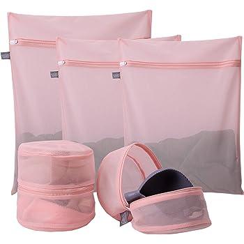 Mesh Laundry Bags Zipped Wash Bag Underwear Bra Lingerie Travel Organizer