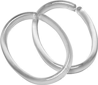 Sealskin Lot de 12 anneaux pour rideau de douche, couleur : transparente