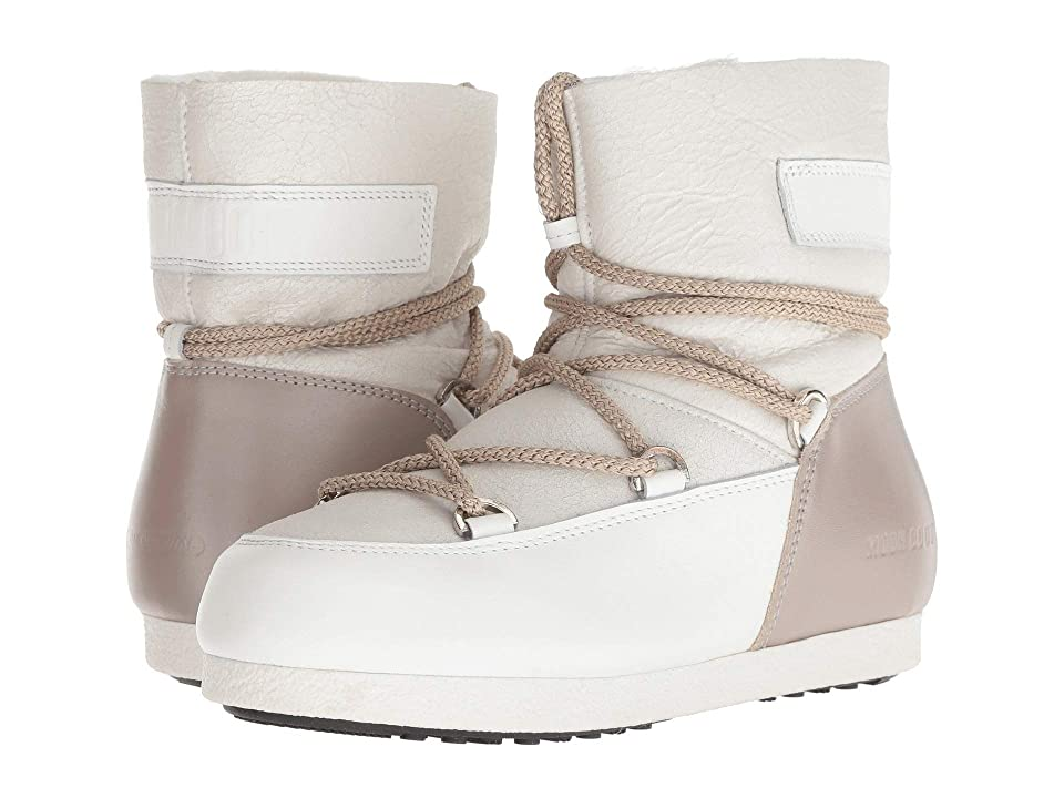 Tecnica Moon Boot Far Side Low Pearl (White/Taupe) Women