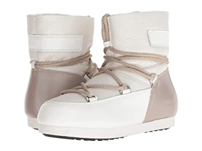MOON BOOT Moon Boot Far Side Low Pearl (White/Taupe) Women