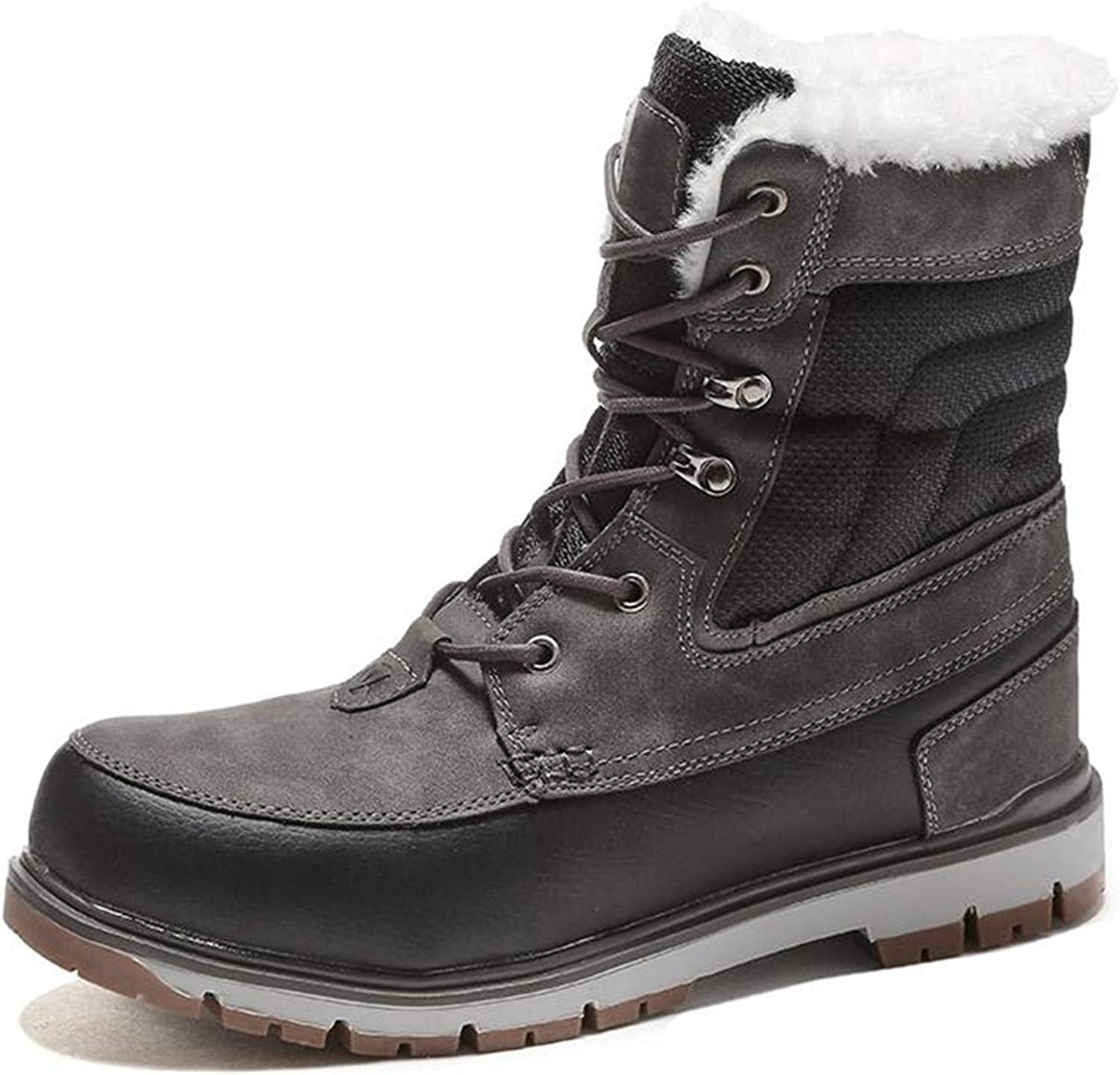 Winter Boots Warm Plush Fur Snow Platform Boots Men Ankle Boot Casual Motorcycle Boot