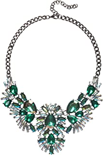 2 Colors Charming Bib Necklace for Daily Party Prom Celebration with Gift Box