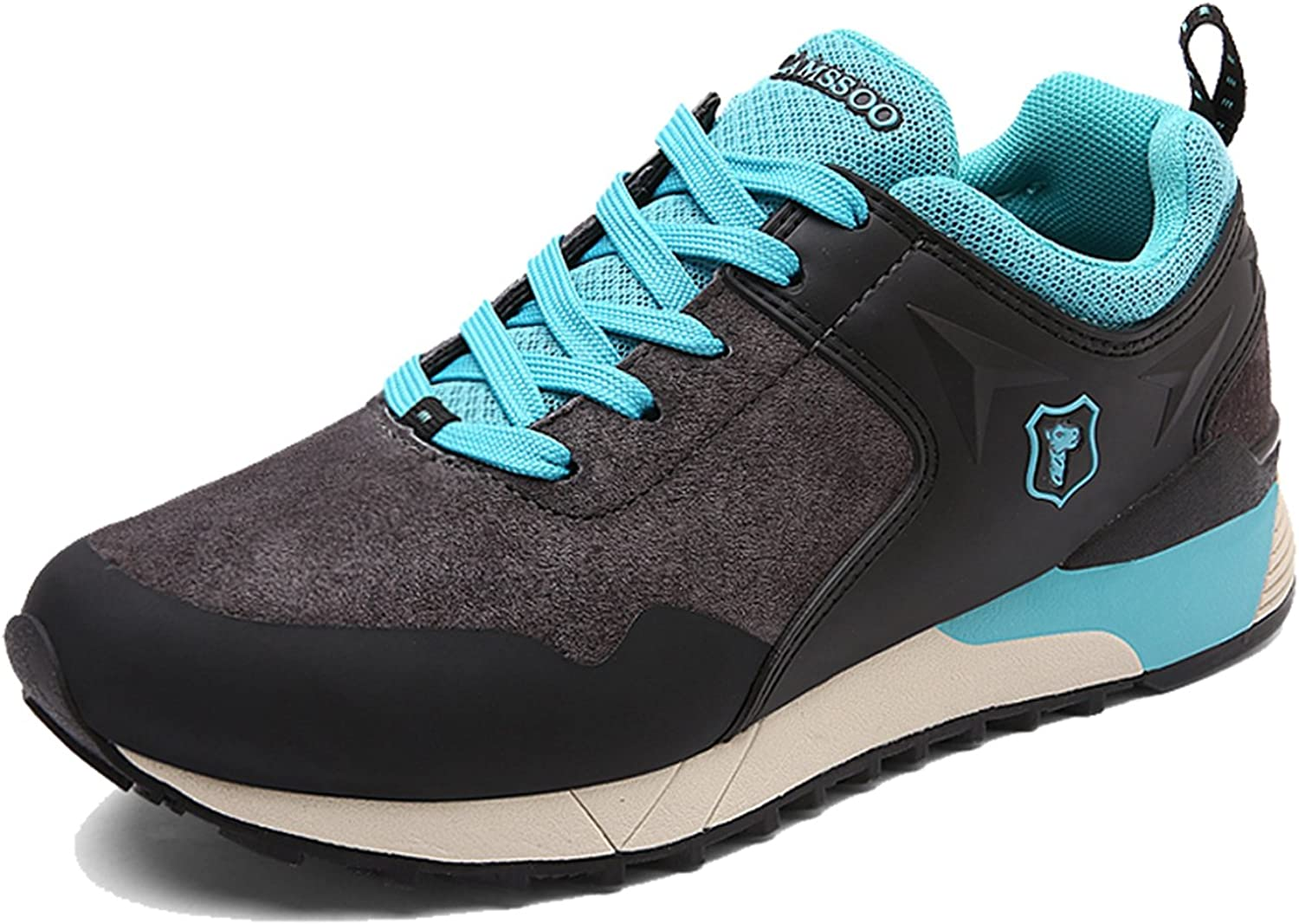 CAMSSOO Womens Outdoors Suede Leather Cushioning Anti-Sweat Hiking Running shoes