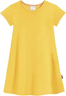 Girls' Soft Cotton Short Sleeve Cover Up Dress (Size 2T-16)