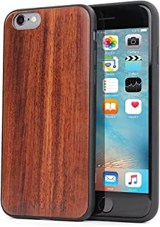 iPhone 6 and 6S Wood Case, Snugg Apple iPhone 6 and 6S Bumper Cover [Genuine Wood] TPU Shell Skin Ultra-Slim - Rosewood