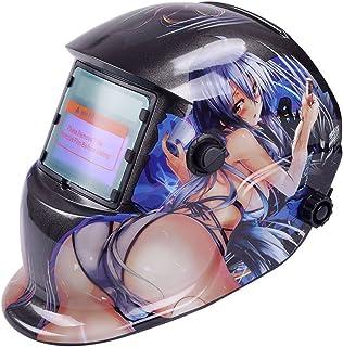 comprar comparacion Tiptiper Oscurecimiento del casco de soldadura, oscurecimiento automático de la máscara del casco de soldadura Protección ...
