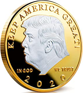 blinkee Commander in Chief 2020 Donald Trump Commemorative Silver on Gold Coin