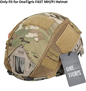 OneTigris Camouflage Helmet Cover Without Helmet 500D Cordura Nylon for Fast PJ Helmet in Size M/L (Multicam - KB01)