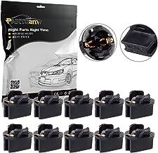 Partsam 10x T10 168 Twist Lock Wedge Instrument Panel Dash Light Gauge Cluster Bulbs Base Sockets