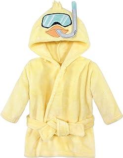 Hudson Baby Dziecięcy chłopcy unisex pluszowy szlafrok na basen i plażę, szlafroki z kaczką z akwalungiem, 18-24 miesięcy