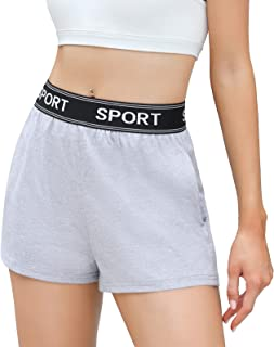 Sykooria Women's Sport Shorts with Pockets Running Shorts Breathable Athletic Shorts for Gym Yoga Training