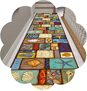 HAIPENG Colorful Runner Rug for Hallway, Low Pile Entrance Mat, Non Slip Carpet for Hall Entryway Kitchen Staircase, 60cm/...