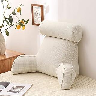 Oreiller de lecture Bed Rest   Oreiller de lecture et de repos au lit doux avec repose-bras et tour de cou, coussin de sou...