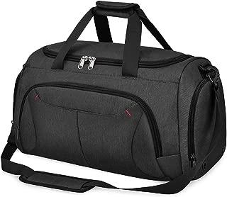 NUBILY ボストンバッグ メンズ ダッフルバッグ 修学旅行 ジムバック 大容量 スポーツバッグ 旅行 防水 40L 2way ブラック グレーブルー