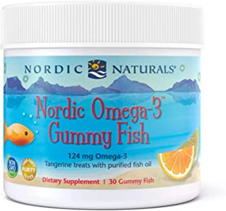 Nordic Naturals Nordic Omega-3 Gummy Fish, Tangerine - 30 Gummy Fish - 124 mg Total Omega-3s with EPA & DHA - Non-GMO - 30...