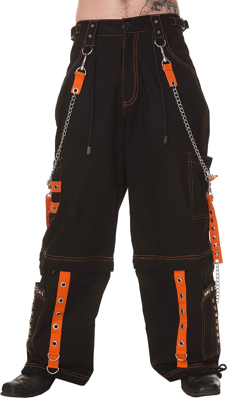 Dead Threads-Six Poches Noir et Orange Homme Pantalon