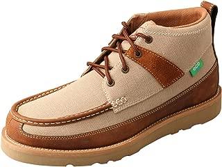 Twisted X Mens Wedge Sole Khaki Shoes