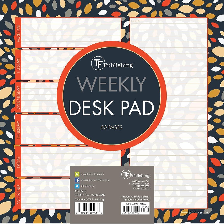代替韻対応Petals Weekly Desk Pad