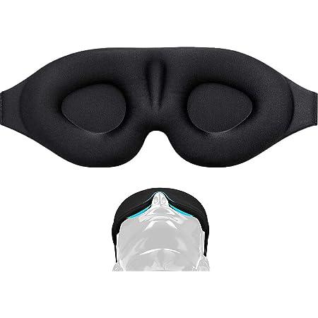 アイマスク 立体型 軽量 遮光 安眠マスク 柔らかい 男女兼用 圧迫感なし 付け心地良い 眼精疲労の軽減 光を完全に遮断 長さが調節できる 昼寝/仮眠/旅行に最適