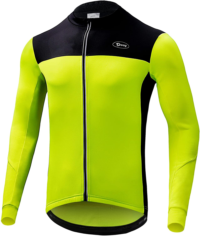 Dooy Men's Cycling Max 76% OFF Bike Jersey Thermal 25% OFF Shirt Biking Long Sleeve