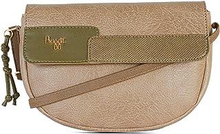 Baggit Autumn/Winter 2020 Faux Leather Women's Saddle Handbag (Beige) (Matty)
