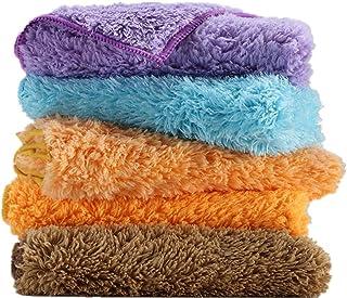 WHK 5 STK. Plüsch Mikrofaser Reinigungstücher, Haushaltsreinigungstuch Küche Wischtuch