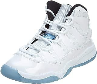 Nike Jordan Kids Jordan 11 Retro Bp White/Legend Blue/Black Basketball Shoe 2 Kids US