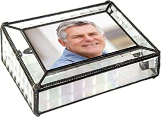 Memory Box Photo Storage Decorative Keepsake Display Case Memorial Sympathy Funeral Remembrance Bereavement Gift 4x6 Picture J Devlin Pbox 103