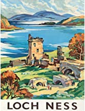 Wee Blue Coo Travel Scotland Castle Loch Ness British Railways Unframed Wall Art Print..