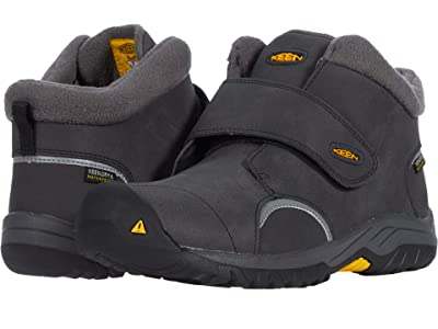 KEEN Kids Kootenay III Mid WP (Little Kid/Big Kid) (Black/Keen Yellow) Boy