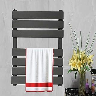 Toallero de panel plano tradicional para baño con radiador de columna, vertical, moderno, montado en la pared, 650 x 400 cm, color gris antracita