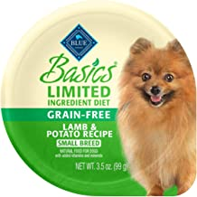 Blue Buffalo Basics Limited Ingredient Diet, Grain Free Natural Adult Small Breed Wet Dog..