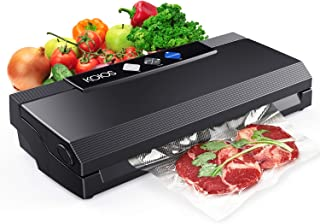 KOIOS Vacuum Sealer Machine, 80Kpa Automatic Food Sealer for Food Savers w/Starter Kit, Dry & Moist Modes, With Up To 40 Consecutive Seals, Compact Design (Black)